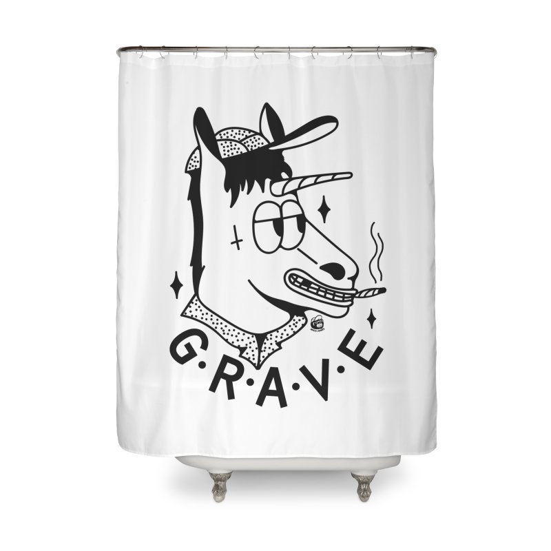 GRAVE Home Shower Curtain by Mico Jones Artist Shop
