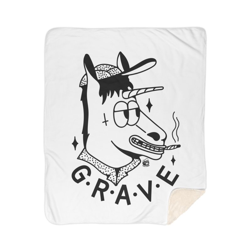 GRAVE Home Sherpa Blanket Blanket by Mico Jones Artist Shop