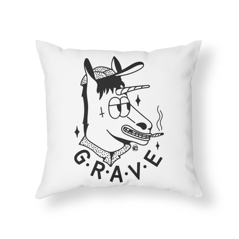 GRAVE Home Throw Pillow by Mico Jones Artist Shop