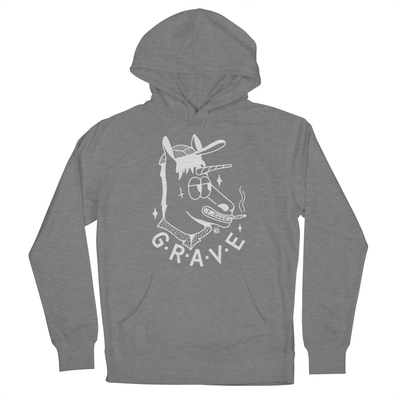 GRAVE WHITE Women's Pullover Hoody by Mico Jones Artist Shop