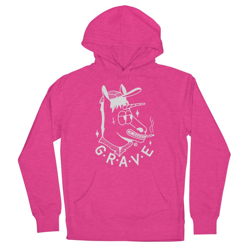GRAVE WHITE Men's Pullover Hoody by Mico Jones Artist Shop