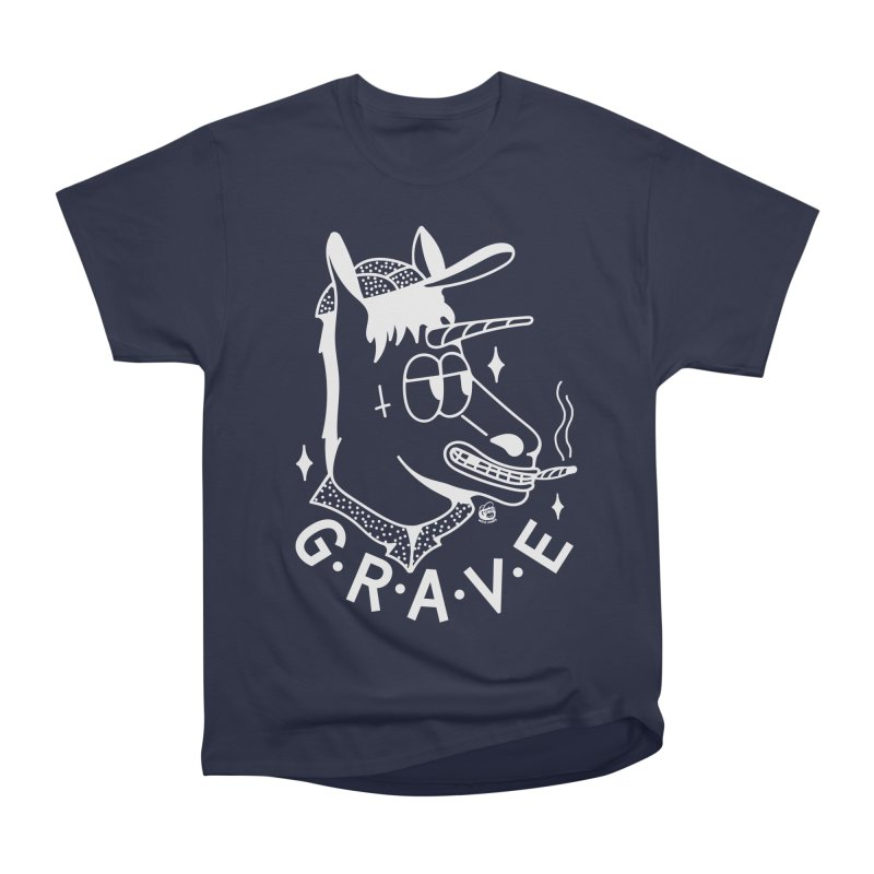 GRAVE WHITE Men's Heavyweight T-Shirt by Mico Jones Artist Shop