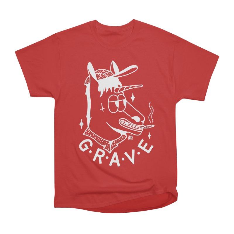 GRAVE WHITE Women's Heavyweight Unisex T-Shirt by Mico Jones Artist Shop