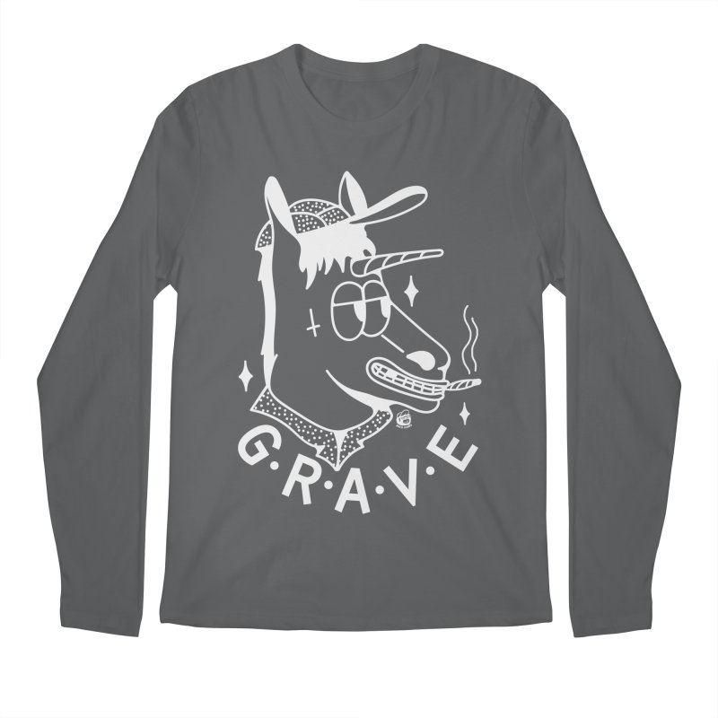 GRAVE WHITE Men's Longsleeve T-Shirt by Mico Jones Artist Shop