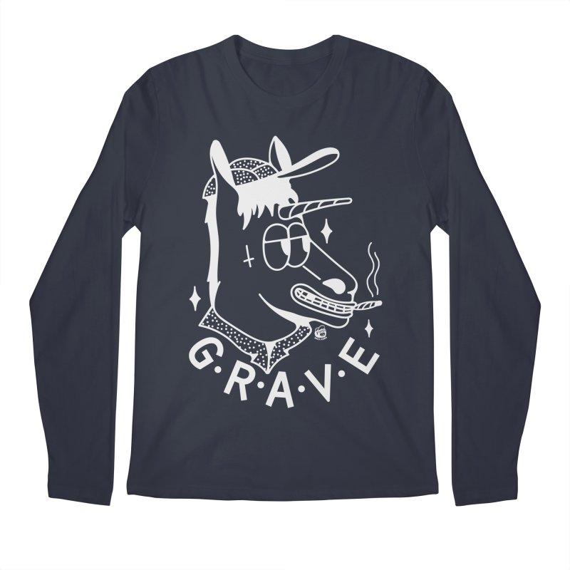 GRAVE WHITE Men's Regular Longsleeve T-Shirt by Mico Jones Artist Shop