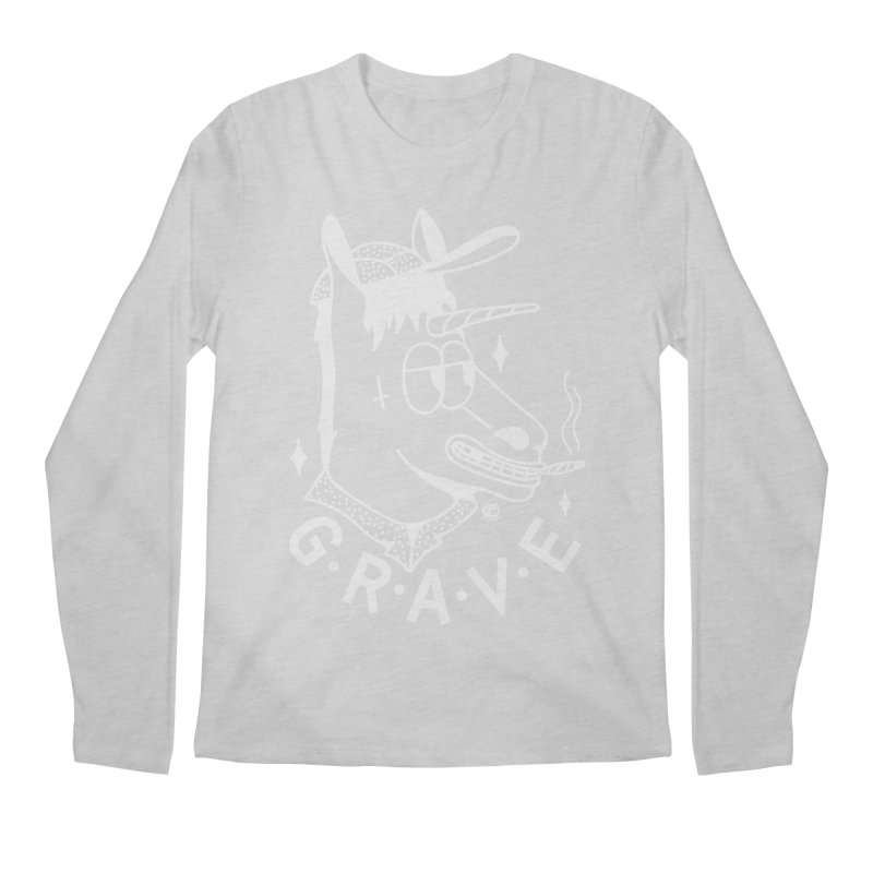 GRAVE WHITE Men's Regular Longsleeve T-Shirt by Mico Jones Artist Shop