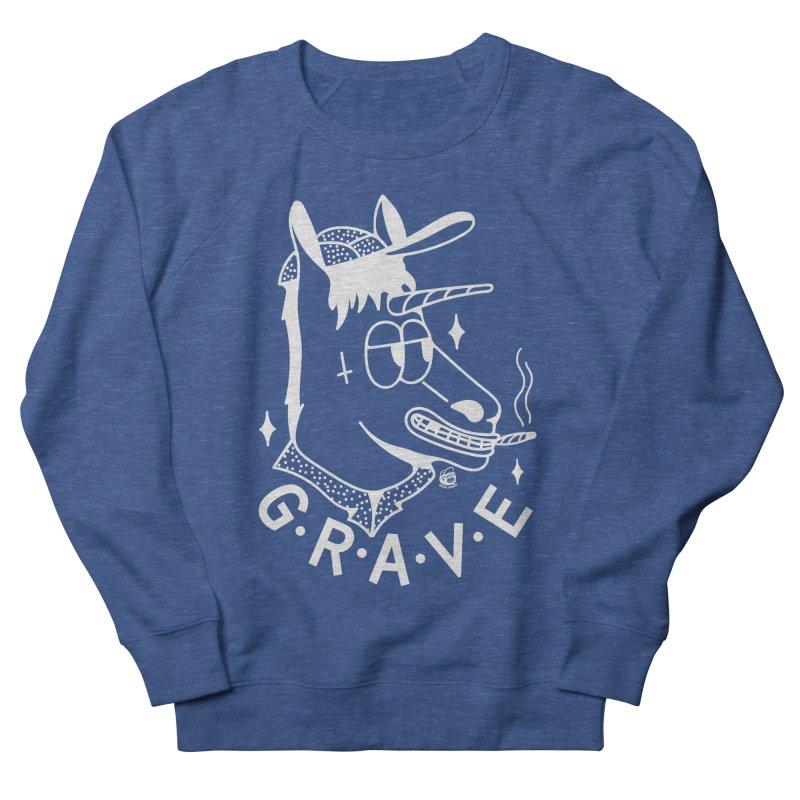 GRAVE WHITE Women's Sweatshirt by Mico Jones Artist Shop