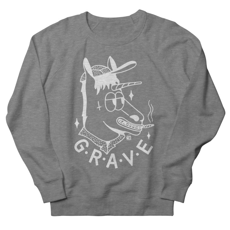 GRAVE WHITE Women's Sweatshirt by Mico Jones Artist Shop
