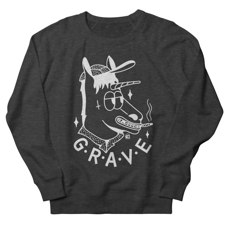 GRAVE WHITE Men's Sweatshirt by Mico Jones Artist Shop