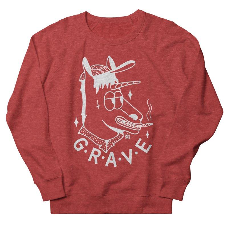 GRAVE WHITE Men's French Terry Sweatshirt by Mico Jones Artist Shop