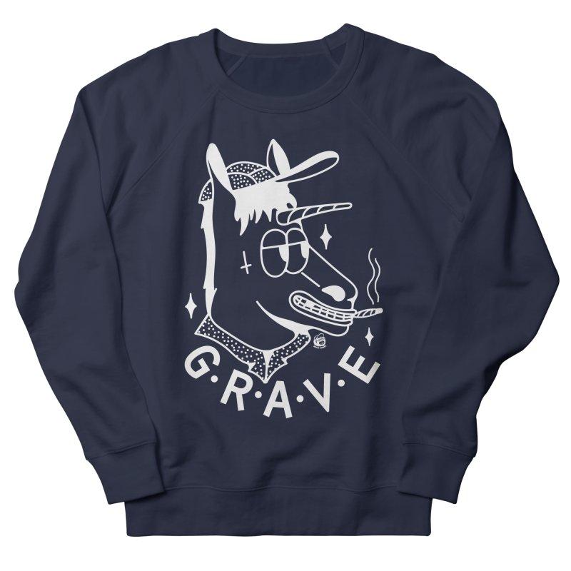 GRAVE WHITE Men's Sweatshirt by Mico Jones Artist Shop
