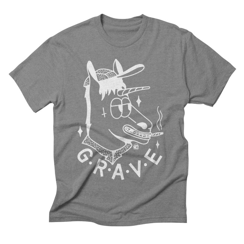 GRAVE WHITE Men's T-Shirt by Mico Jones Artist Shop