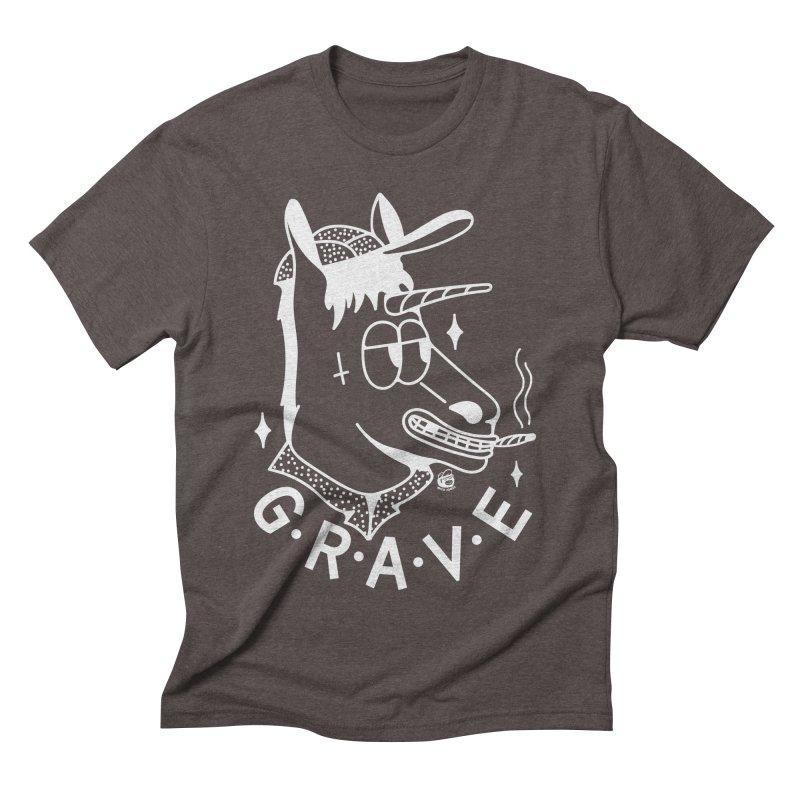 GRAVE WHITE Men's T-Shirt by Mico Jones Artist Shop