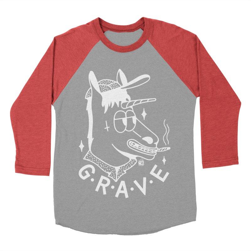 GRAVE WHITE Women's Baseball Triblend Longsleeve T-Shirt by Mico Jones Artist Shop