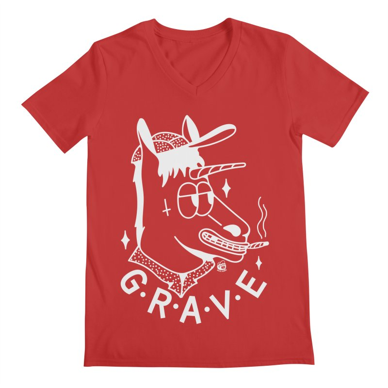 GRAVE WHITE Men's V-Neck by Mico Jones Artist Shop