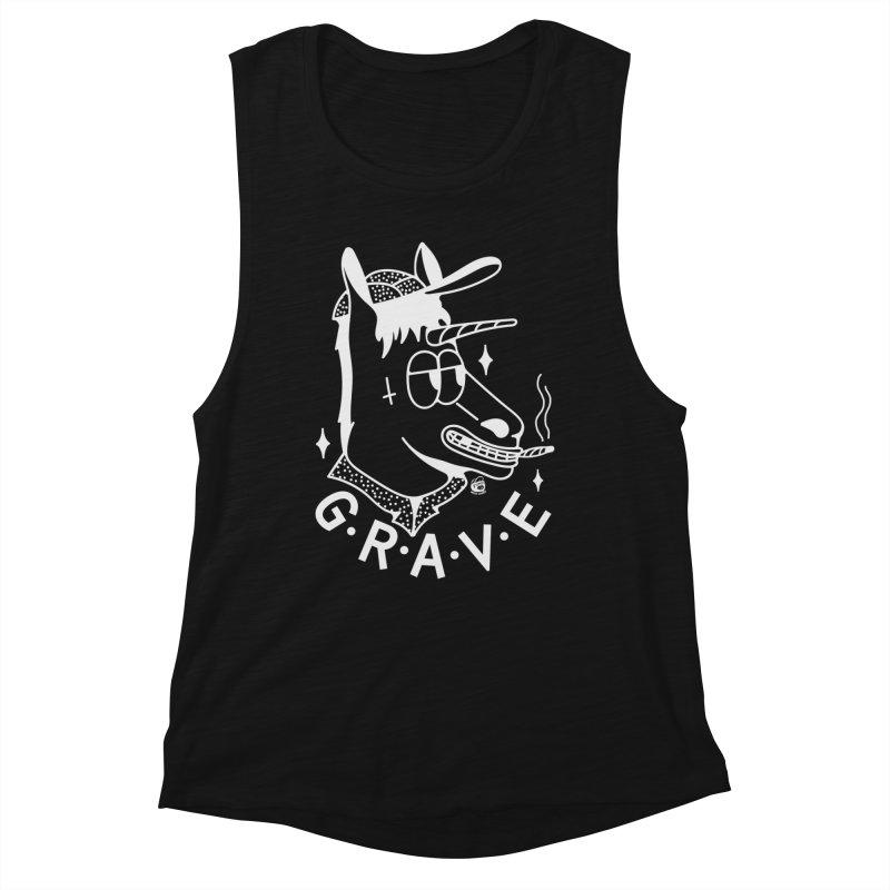GRAVE WHITE Women's Muscle Tank by Mico Jones Artist Shop