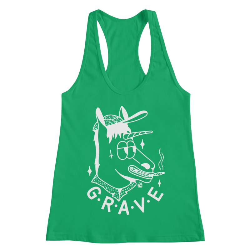 GRAVE WHITE Women's Tank by Mico Jones Artist Shop