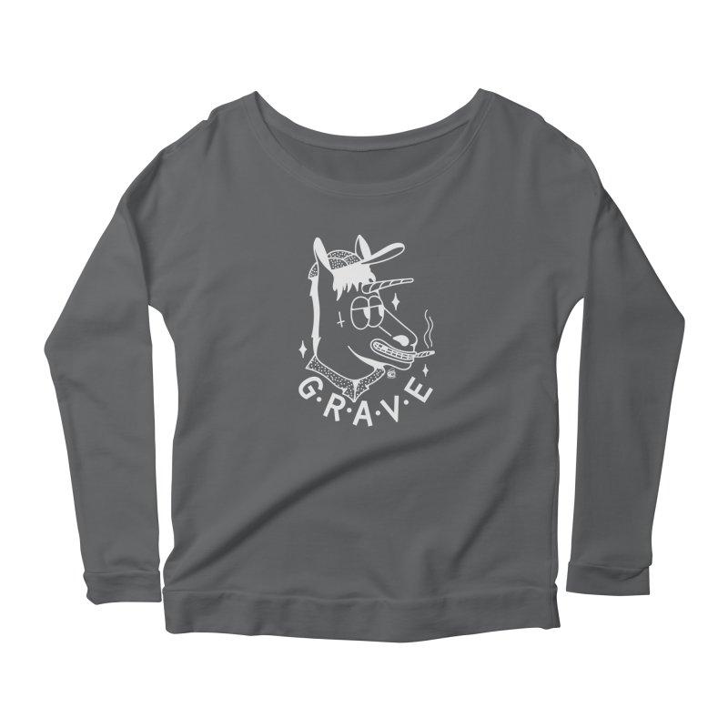 GRAVE WHITE Women's Longsleeve T-Shirt by Mico Jones Artist Shop