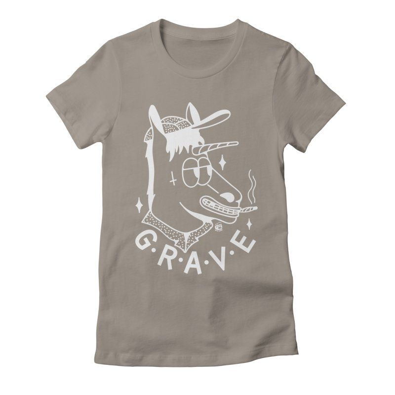 GRAVE WHITE Women's Fitted T-Shirt by Mico Jones Artist Shop