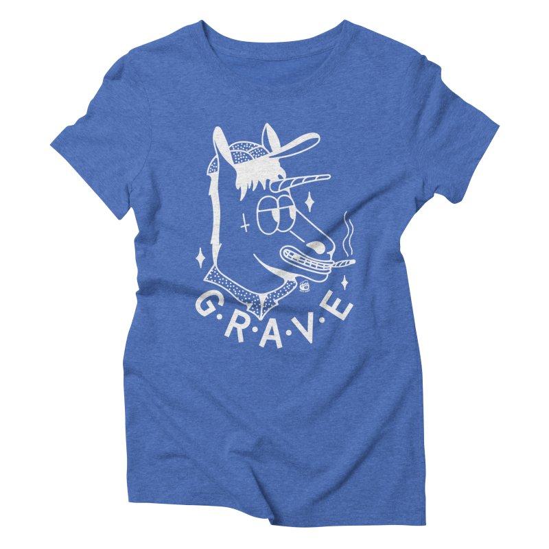 GRAVE WHITE Women's Triblend T-Shirt by Mico Jones Artist Shop