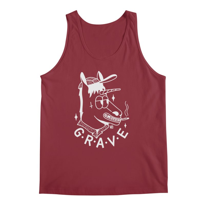 GRAVE WHITE Men's Tank by Mico Jones Artist Shop
