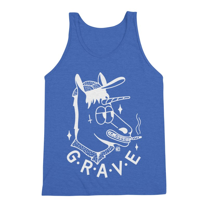GRAVE WHITE Men's Triblend Tank by Mico Jones Artist Shop