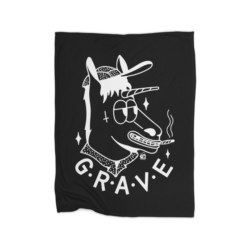 GRAVE WHITE Home Fleece Blanket Blanket by Mico Jones Artist Shop