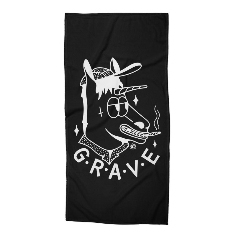 GRAVE WHITE Accessories Beach Towel by Mico Jones Artist Shop