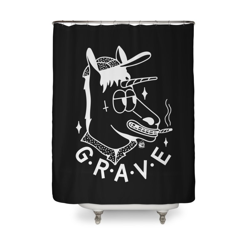 GRAVE WHITE Home Shower Curtain by Mico Jones Artist Shop