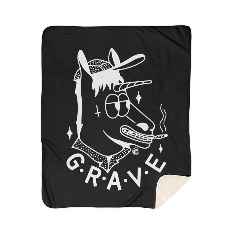 GRAVE WHITE Home Blanket by Mico Jones Artist Shop