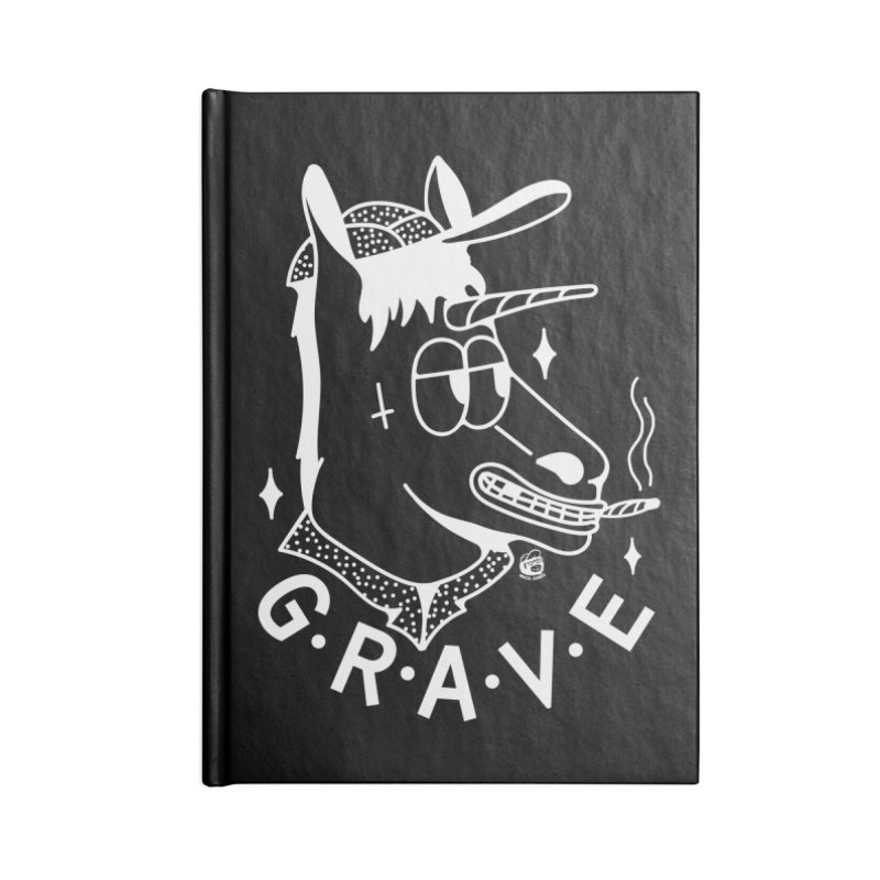 GRAVE WHITE Accessories Lined Journal Notebook by Mico Jones Artist Shop