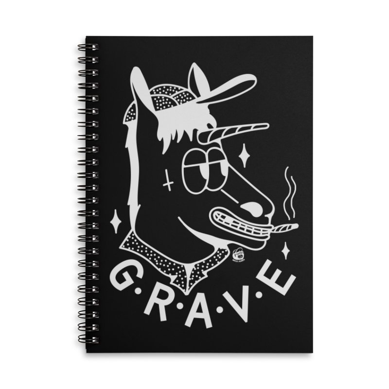GRAVE WHITE Accessories Lined Spiral Notebook by Mico Jones Artist Shop