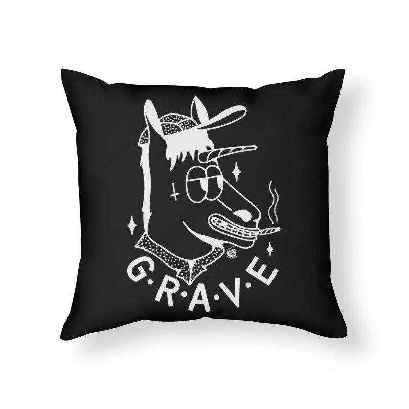 GRAVE WHITE Home Throw Pillow by Mico Jones Artist Shop