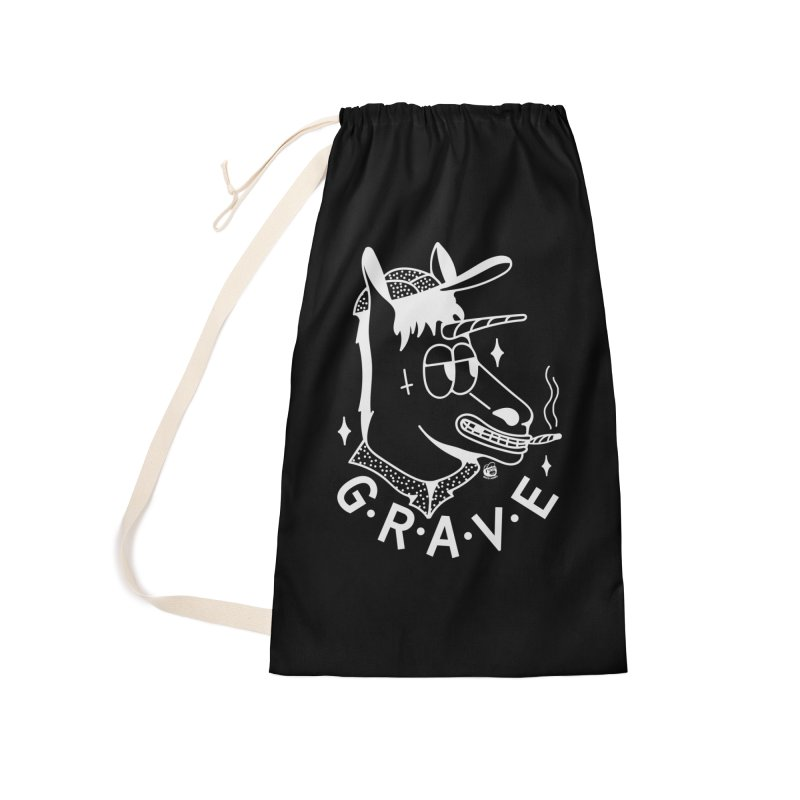 GRAVE WHITE Accessories Bag by Mico Jones Artist Shop