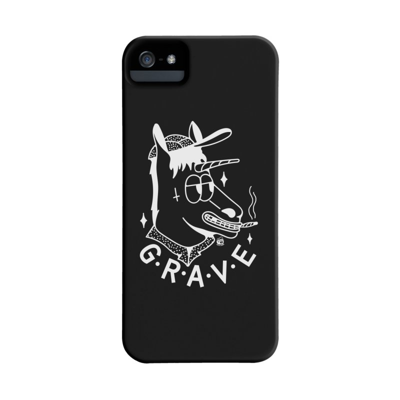 GRAVE WHITE Accessories Phone Case by Mico Jones Artist Shop