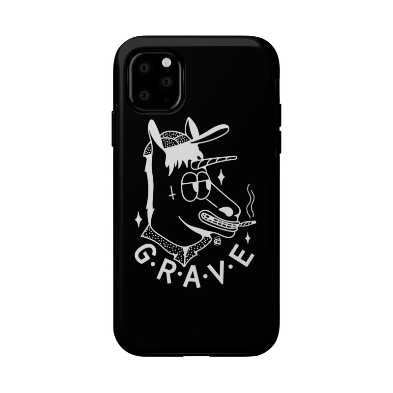 GRAVE WHITE Accessories Phone Case by Mico Jones Artist Shop