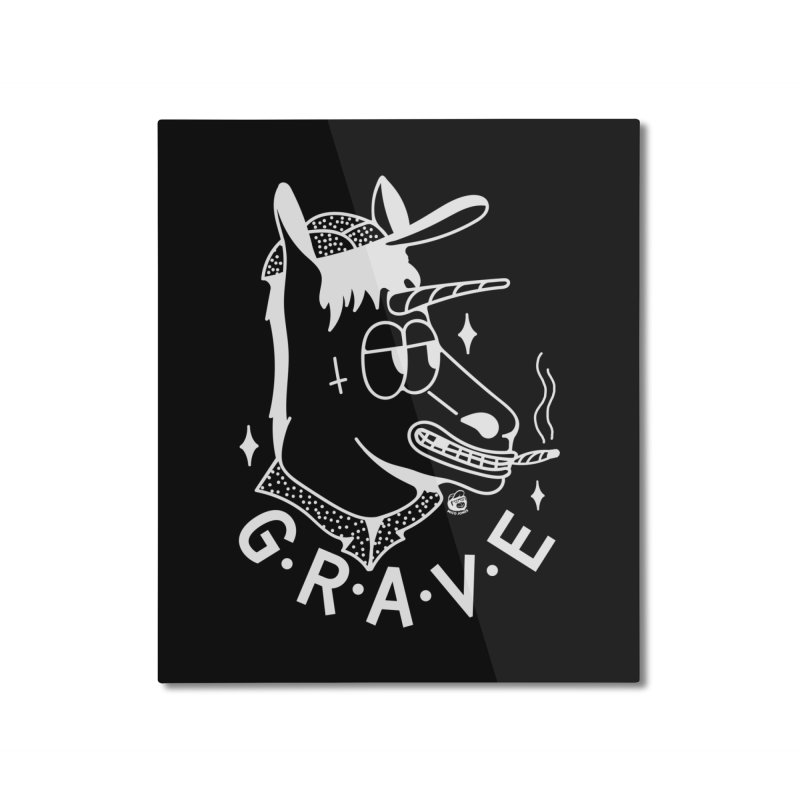 GRAVE WHITE Home Mounted Aluminum Print by Mico Jones Artist Shop