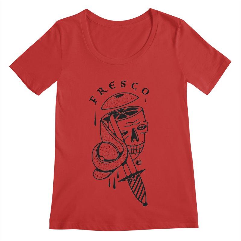 FRESCO Women's Regular Scoop Neck by Mico Jones Artist Shop