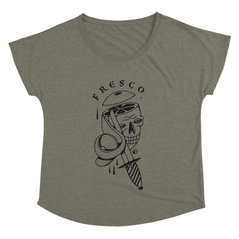 FRESCO Women's Dolman Scoop Neck by Mico Jones Artist Shop