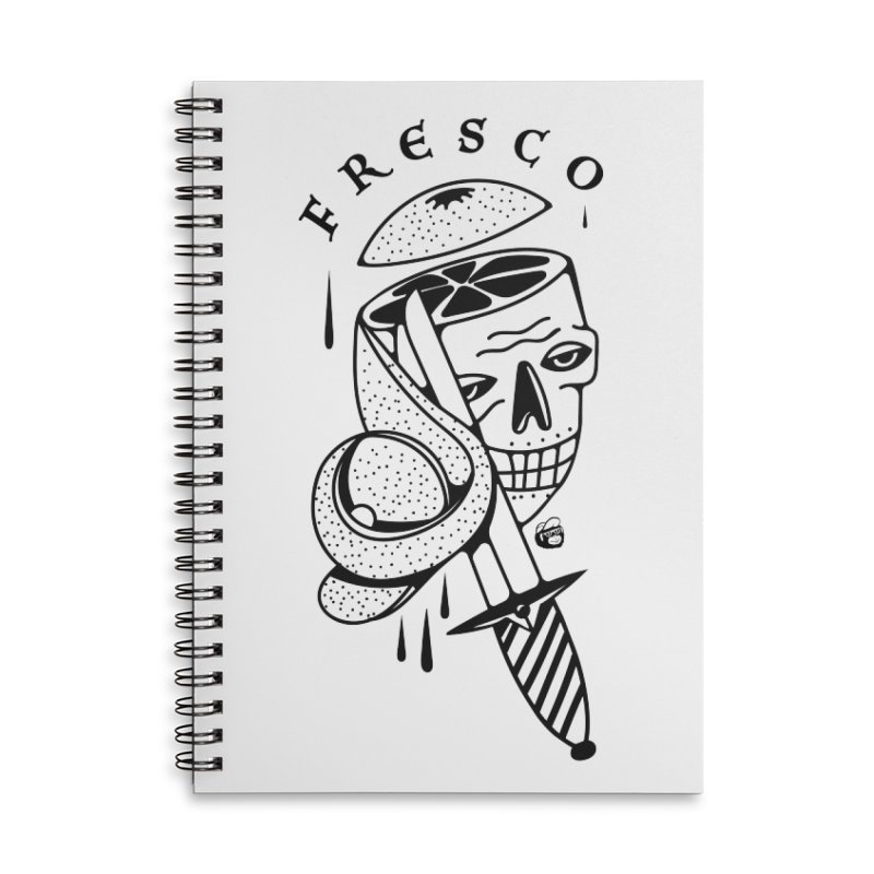 FRESCO Accessories Lined Spiral Notebook by Mico Jones Artist Shop