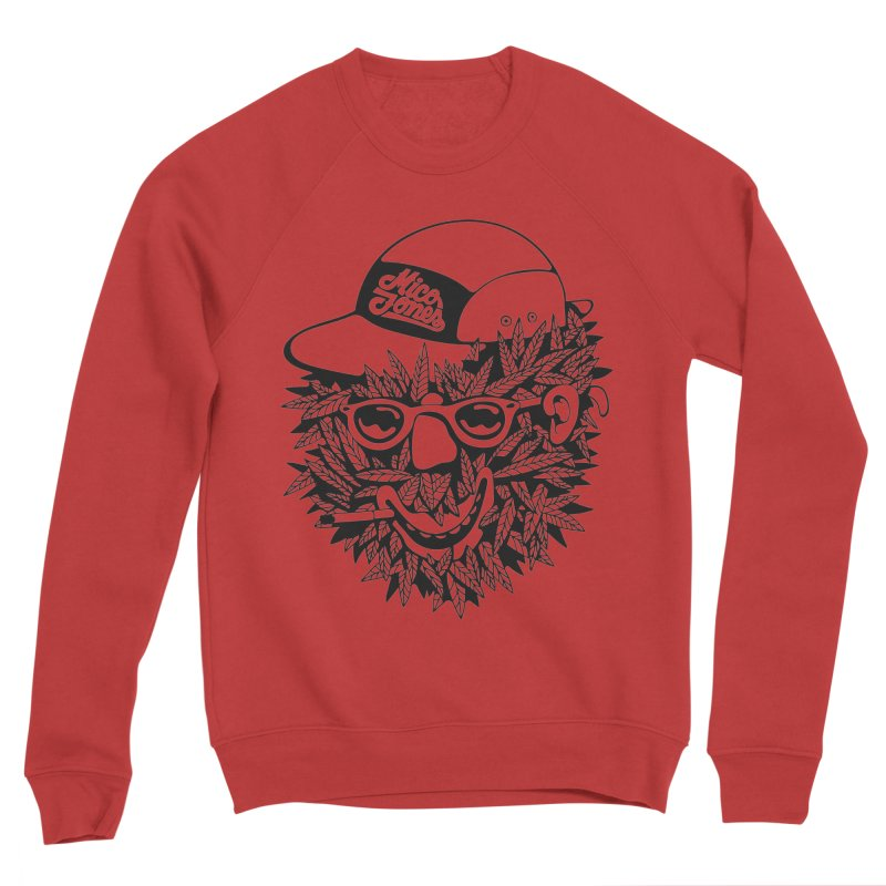 DOPE BUSH Men's Sponge Fleece Sweatshirt by Mico Jones Artist Shop
