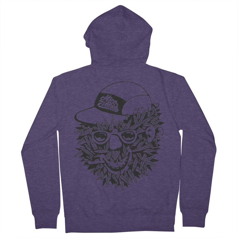 DOPE BUSH Men's Zip-Up Hoody by Mico Jones Artist Shop