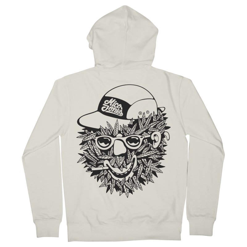 DOPE BUSH Men's French Terry Zip-Up Hoody by Mico Jones Artist Shop