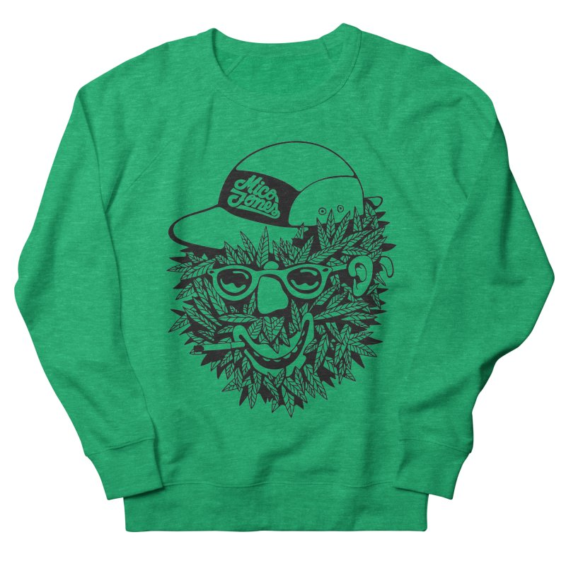 DOPE BUSH Men's French Terry Sweatshirt by Mico Jones Artist Shop