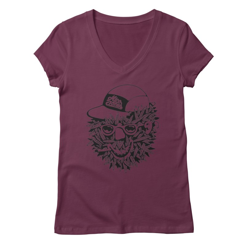DOPE BUSH Women's V-Neck by Mico Jones Artist Shop