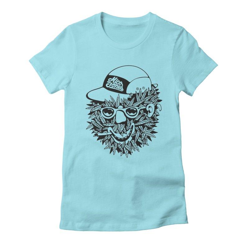 DOPE BUSH Women's Fitted T-Shirt by Mico Jones Artist Shop