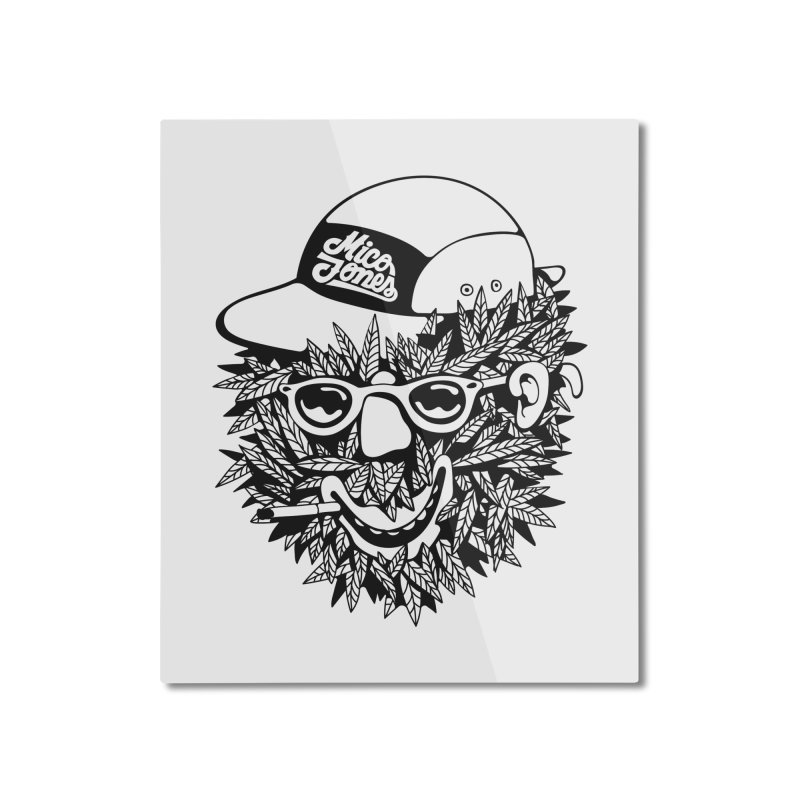 DOPE BUSH Home Mounted Aluminum Print by Mico Jones Artist Shop
