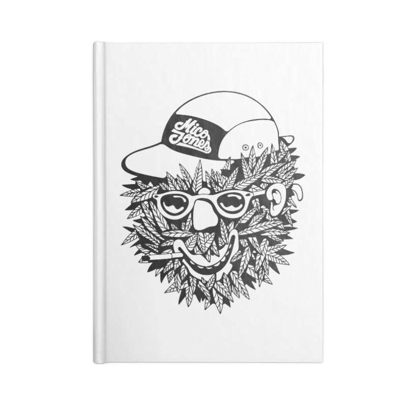 DOPE BUSH Accessories Lined Journal Notebook by Mico Jones Artist Shop