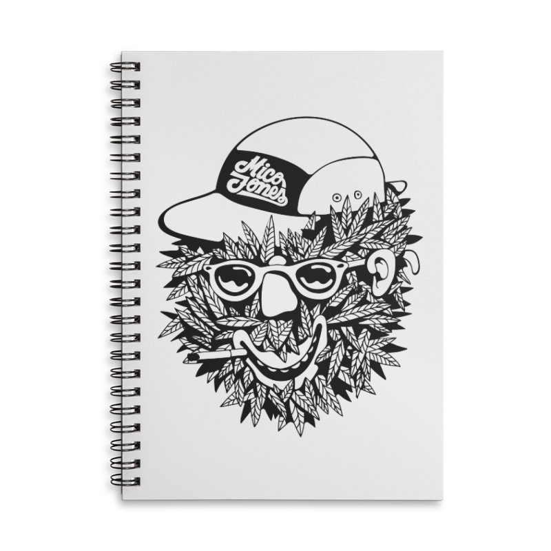 DOPE BUSH Accessories Lined Spiral Notebook by Mico Jones Artist Shop