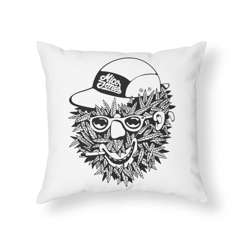 DOPE BUSH Home Throw Pillow by Mico Jones Artist Shop